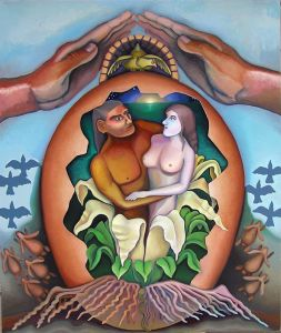 No Fertility Gods, painting by Jacinto Rivera