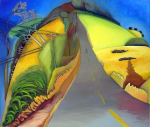 Road Hill, a painting by Jacinto Rivera