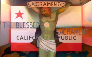 Sacramento_CA, painting by Jacinto Rivera