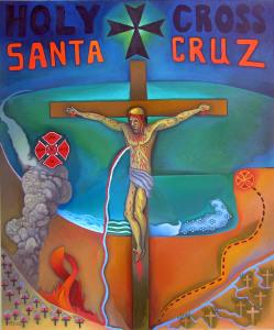 Santa Cruz, painting by Jacinto Rivera