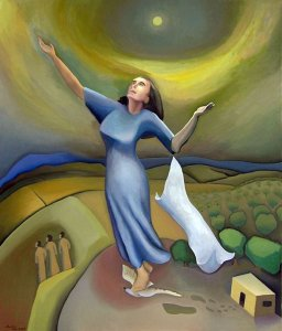 The Assumption Oil on canvas 40 1/2 X 48 inches