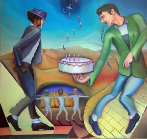 The Cakewalk, Painting by Jacinto Rivera