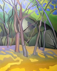 Oaks, painting by Jacinto Rivera
