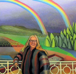 The Double Rainbow Snapshot, painting by Jacinto Rivera