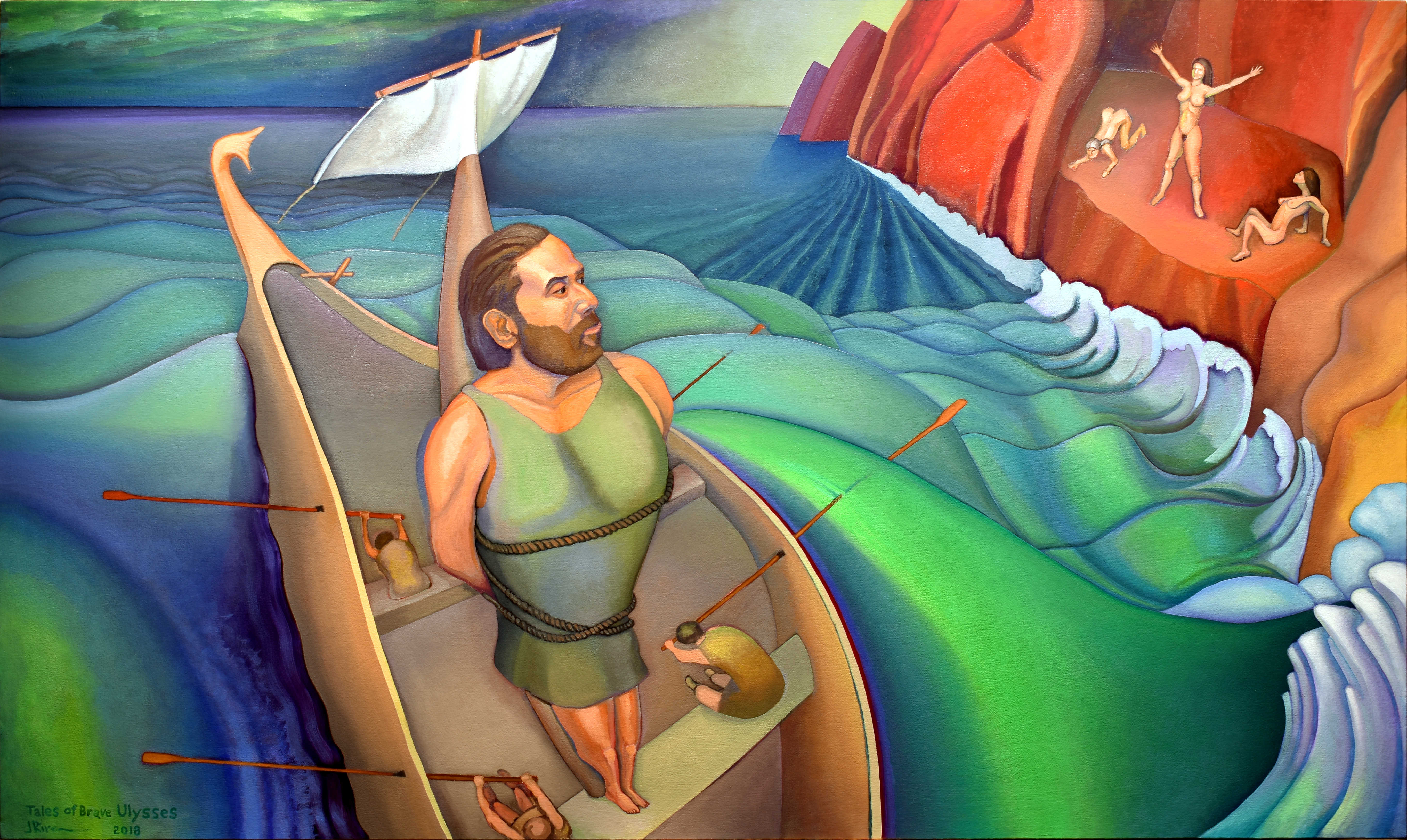 Tales of Brave Ulysses, a painting by Jacinto Rivera
